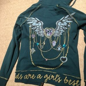 Diamonds Are A Girl's Best Friend Jacket - Blue